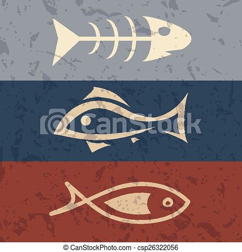 fish symbol set - csp26322056