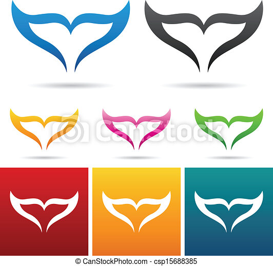 fish tail icons - csp15688385