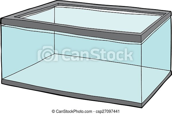 single rectangular pet fish tank full of water eps vector search rh canstockphoto com fish tank free clipart fish tank free clipart