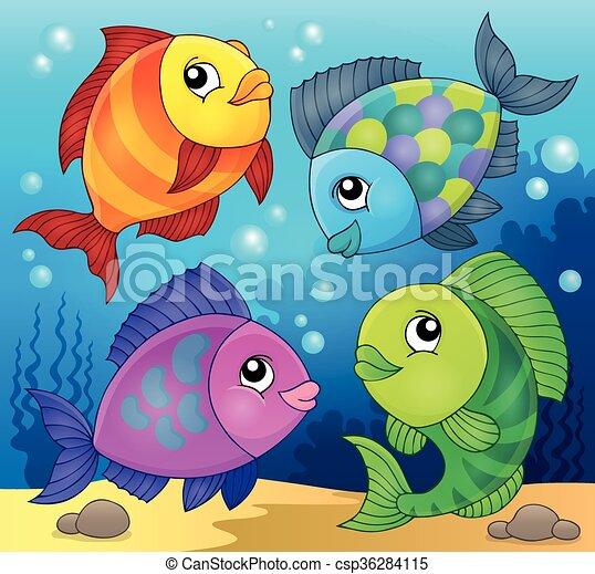 Fish topic image 3 - csp36284115