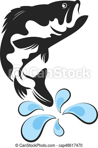 fish vector fish silhouette and water drops vector