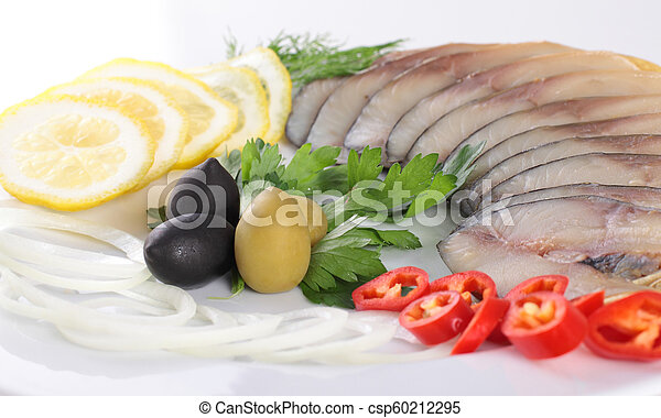 fish with vegetables, anion red pepper - csp60212295