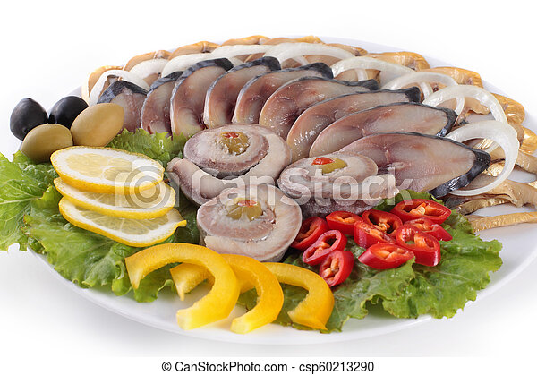 fish with vegetables, anion red pepper - csp60213290