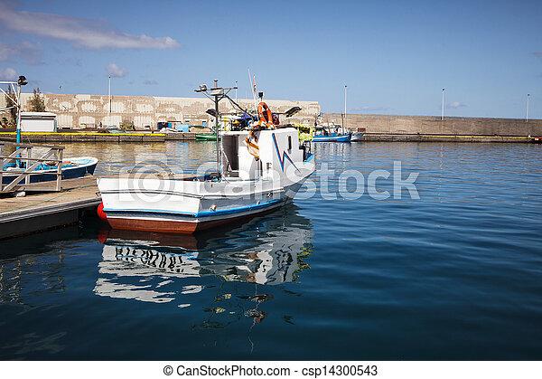 Fishboat on harbor - csp14300543