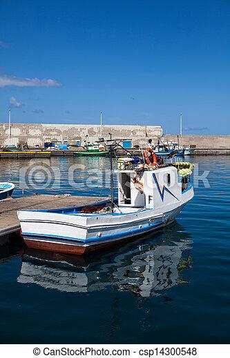 Fishboat on harbor - csp14300548