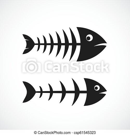 Fishbone frame vector icon - csp61545323