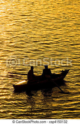 Fisher boat on the Nile River - csp4150132
