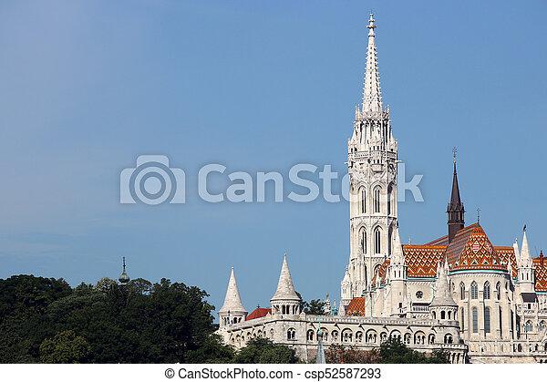 Fisherman bastion and Matthias church Budapest - csp52587293