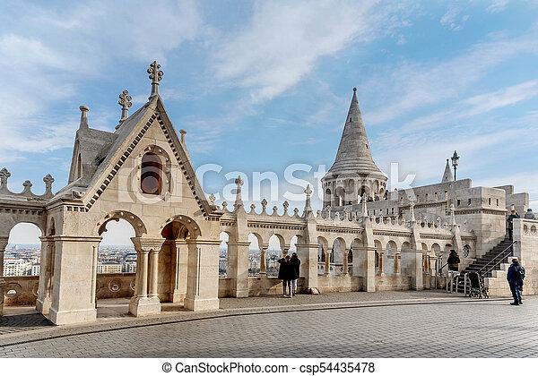 Fisherman Bastion, Buda Castle in Budapest, Hungary - csp54435478
