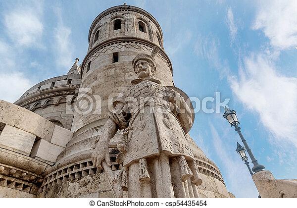 Fisherman Bastion, Buda Castle in Budapest, Hungary - csp54435454