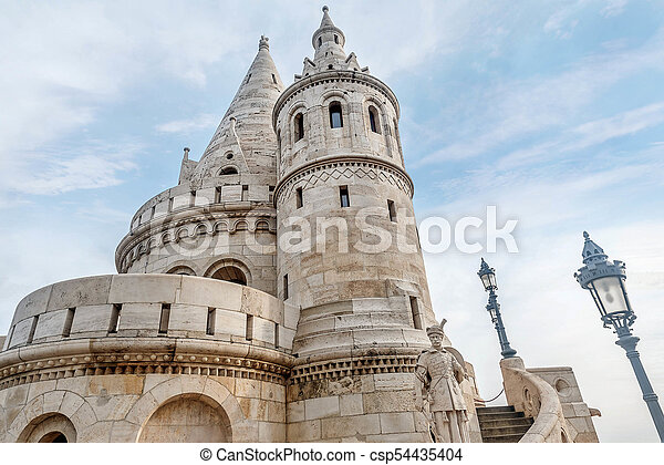 Fisherman Bastion, Buda Castle in Budapest, Hungary - csp54435404