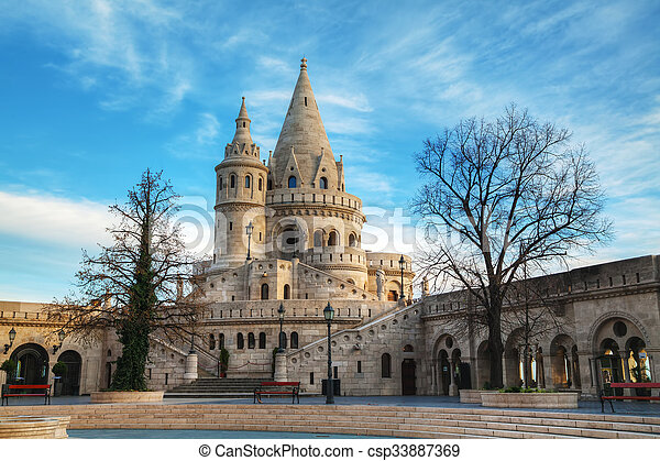 Fisherman bastion in Budapest, Hungary - csp33887369