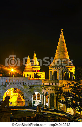 Fisherman bastion in Budapest, Hungary - csp24040242