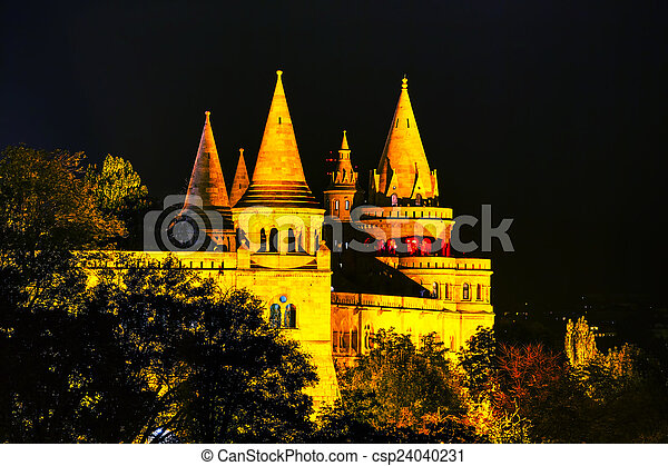 Fisherman bastion in Budapest, Hungary - csp24040231