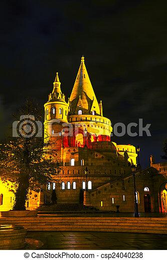 Fisherman bastion in Budapest, Hungary - csp24040238