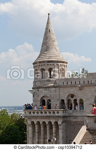 Fisherman Bastion on the Buda Castle hill in Budapest, Hungary - csp10394712