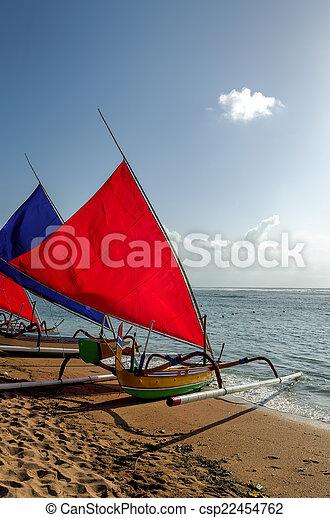 fisherman boat in Bali - csp22454762