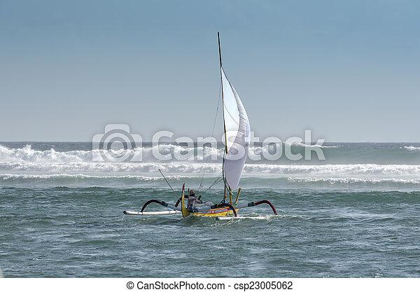 fisherman boat in Bali - csp23005062