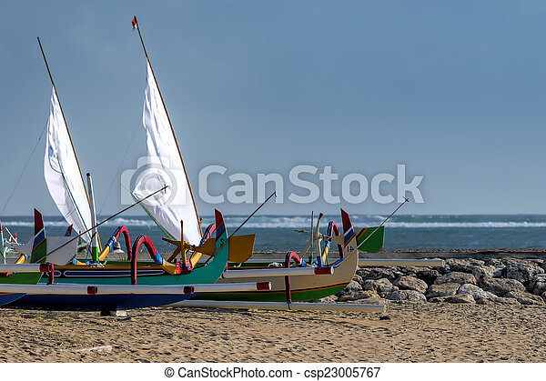 fisherman boat in Bali - csp23005767