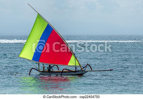 fisherman boat in Bali - csp22454750