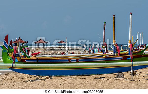 fisherman boat in Bali - csp23005055