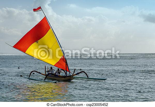 fisherman boat in Bali - csp23005452