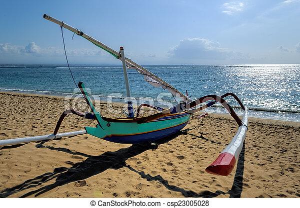 fisherman boat in Bali - csp23005028