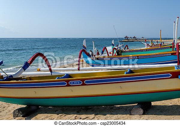 fisherman boat in Bali - csp23005434