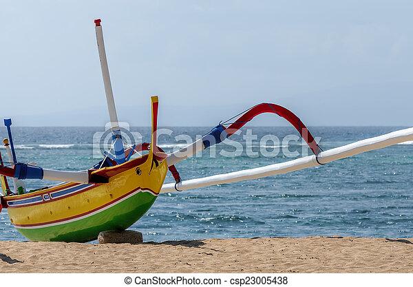 fisherman boat in Bali - csp23005438