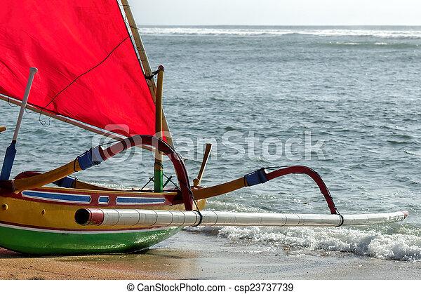 fisherman boat in Bali - csp23737739