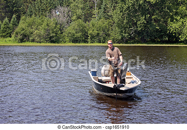 fisherman in a boat - csp1651910