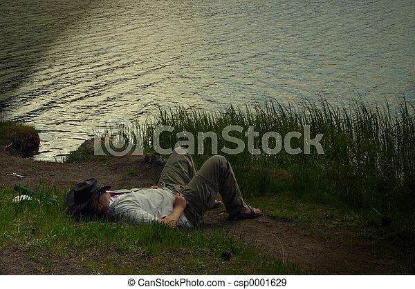 Fisherman Sleeping - csp0001629