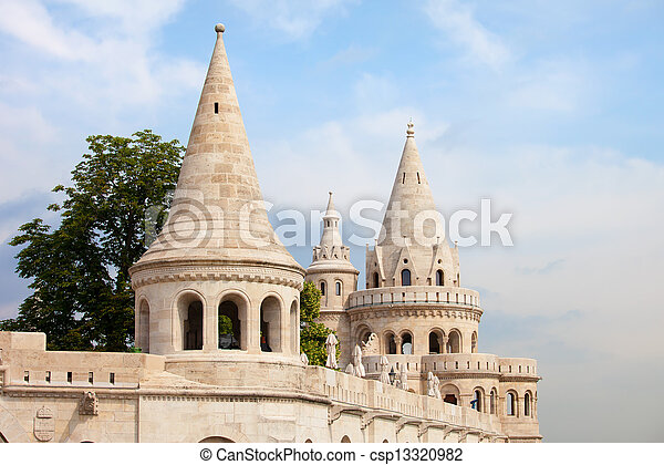 Fisherman's Bastion in Budapest - csp13320982