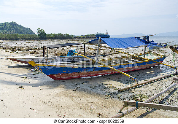 Fisherman's boat in Bandar Lampung, Sumatra, Indonesia - csp10028359