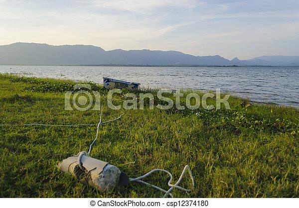 Fisherman's boat - csp12374180