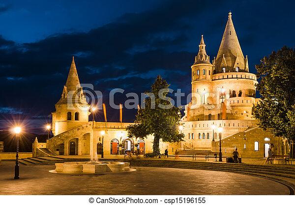 Fishermen Bastion, Budapest, Hungary - csp15196155