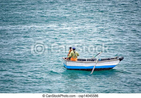 fishermen in the boat - csp14045586