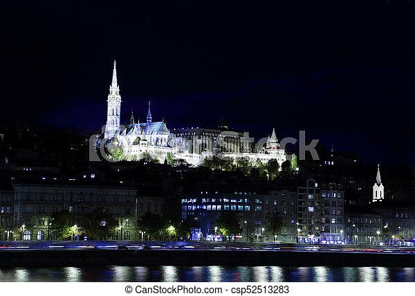 Fishermen's Bastion and Matthias Church, Budapest, Hungary - csp52513283