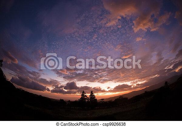 Fisheye Lens Cloudscape - csp9926638