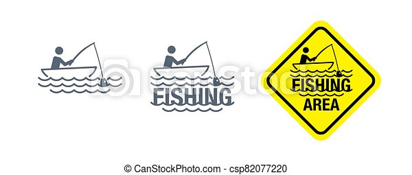 Fishing area attention sign - csp82077220
