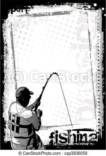 fishing background 2 - csp3936059