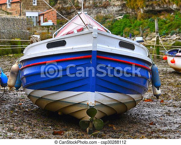 Fishing Boat At Low Tide - csp30288112
