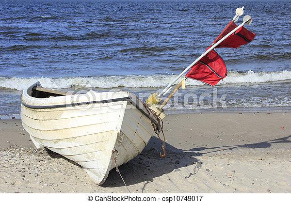 Fishing boat, Baltic Sea, Germany - csp10749017