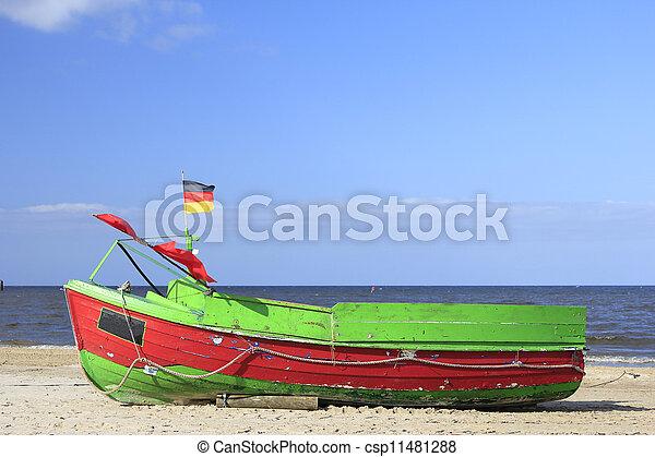 Fishing boat, Baltic Sea, Germany - csp11481288
