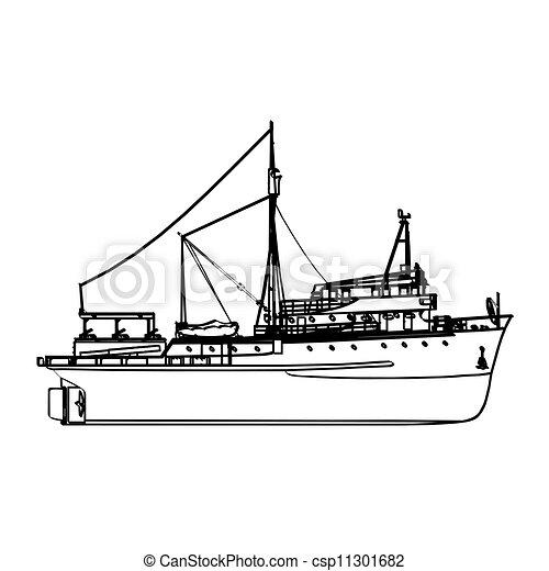 Fishing boat - csp11301682