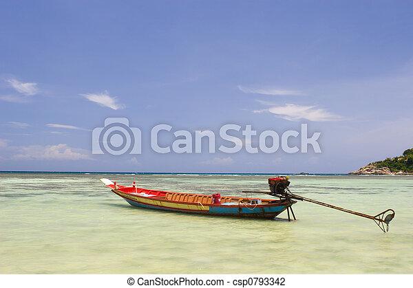 Fishing boat in the ocean - csp0793342