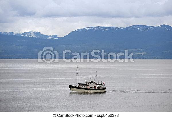 Fishing boat on the sea - csp8450373