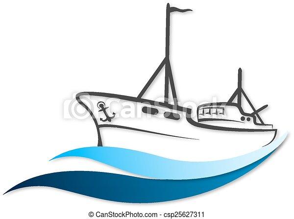 Fishing Boat Vector Clip Art