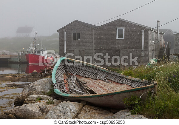 Fishing boats in Peggys Cove - csp50635258