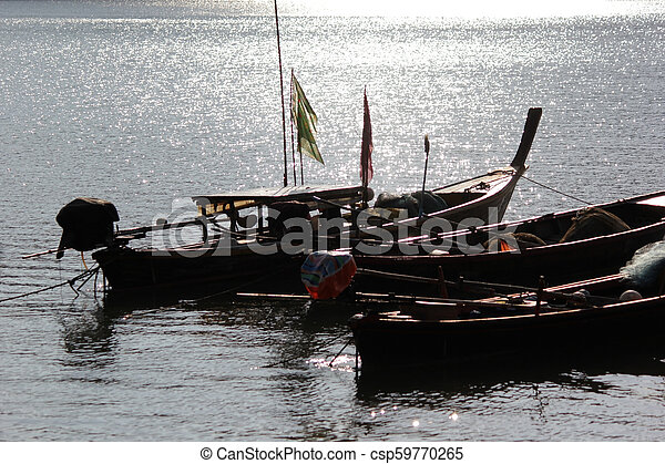 fishing boats in the sea - csp59770265